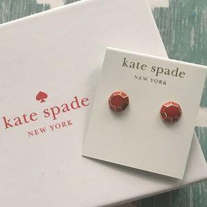 Kate Spade Red & Gold Stud Earrings